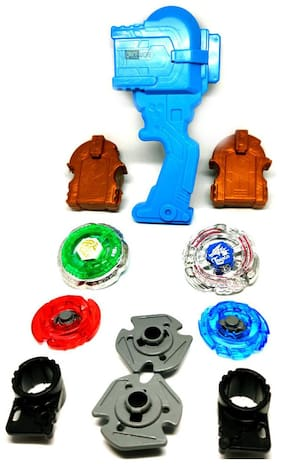 ONCEMORE Compatible Kids Metal Plastic Multicolor New 4D Handle Beyblades Assorted