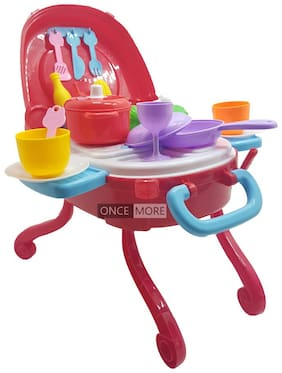 ONCEMORE Compatibleby New Kitchen Set Toys for Kids Girl