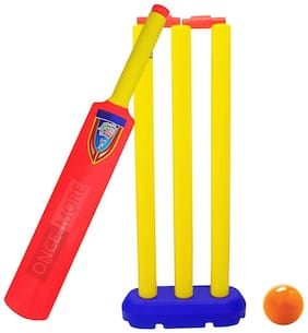 ONCEMORE Compatible New Boys Bat Ball Cricket Kit Set for Kids Birthday and Diwali Return Gift Item Pack of 1