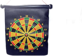 ONCEMORE Compatible Magnetic Indoor and Outdoor Score Dartboard Kit with 6 Soft Darts Assorted