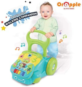 Orapple 5 in 1 Baby Push Walker for Kids Baby Multipurpose Learning Toys for 1, 2, 3, 4 Yrs Old(Green)