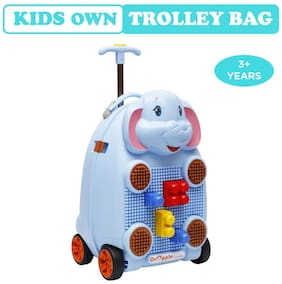 Orapple by R for Rabbit Kids Own Trolley/Travel Bag -Trolly Luggage Bag for kids With Blocks