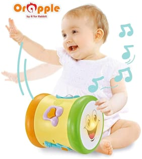 Orapple Toys by R for RabbitMusical Learning Drumfor kids 1;2;3 4 Yrs old (Multi)