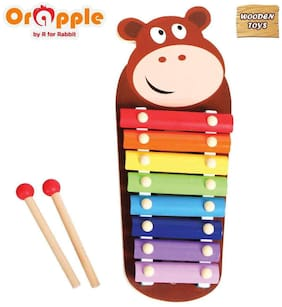 Orapple Toys by R for RabbitTin Tin Xylophone Baby Musical Toys for babies/Kids Learning or Educational Toys (Bear)