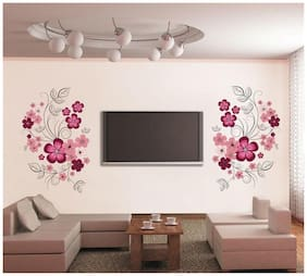 Oren Empower Very sweet decorative Pink flower wall sticker