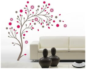 Oren Empower Lovely Flower on Gray Branches Wall Decals