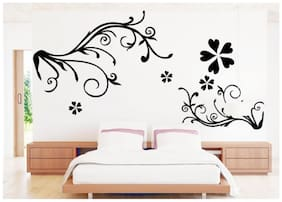 Oren Empower Beautiful Floral Background PVC art Wall Sticker