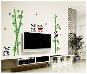 Oren Empower Panda and bamboo home decorative Wall Sticker
