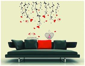 Oren Empower Beautiful Love Nest & Red Heart Wall Decals