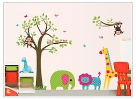 Oren Empower Animal Fun Around Tree Wall Sticker
