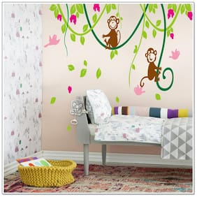 Oren Empower Monkey climbing a tree wall sticker