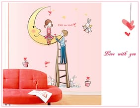 Oren Empower Hot Romantic Couple Expressing Their Love Wall Sticker