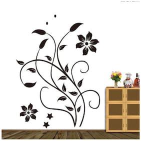 Oren Empower Stylish Swirl Flower Wall Decal