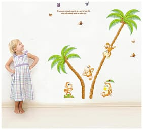 Oren Empower Monkey climbing trees wall stickers