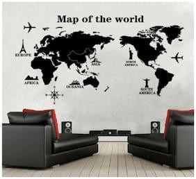 Oren Empower Map of the world decorative wall sticker