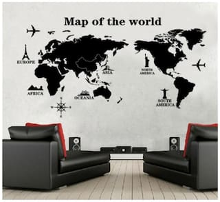 Oren Empower Map of the world decorative wall sticker
