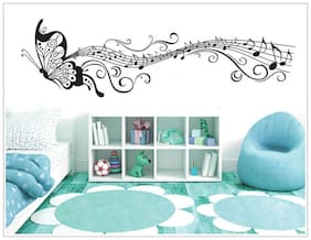 Oren Empower Butterfly and Music Notes Wall Decal