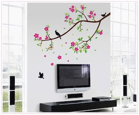 Oren Empower Pink Peach branch decorative wall sticker