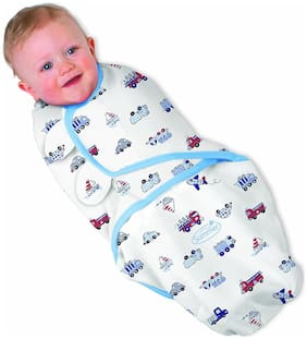 Organic Cotton Swaddle Wrap -Hip-Healthy, Comfortable and Cozily Warm Wrapping Blanket -Secure and Durable Baby Cover Unisex & Multicolour