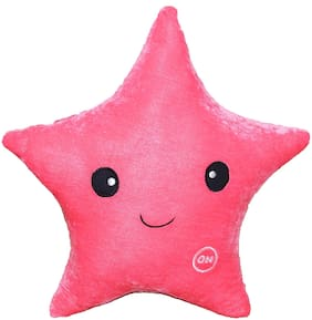 Oscar Home Star Shape Plush Fabric Pink Pillow Stuffed Toys For Babies and Kids.