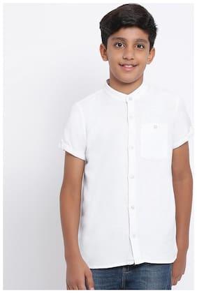 OXOLLOXO Boy Cotton Solid Shirt White