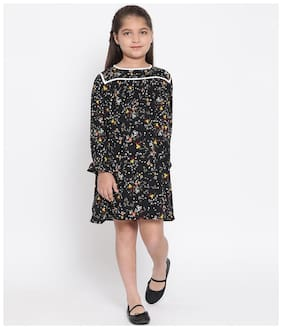 Oxolloxo Multi Polyester Full Sleeves Above Knee Princess Frock ( Pack of 1 )