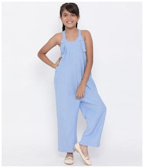 Oxolloxo Ocean Fario Betty Girls Jumpsuit (Blue)