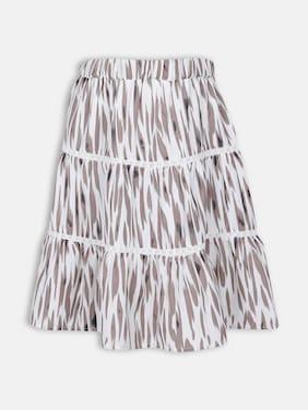 Oxolloxo Girl Polyester Printed A- line skirt - Multi