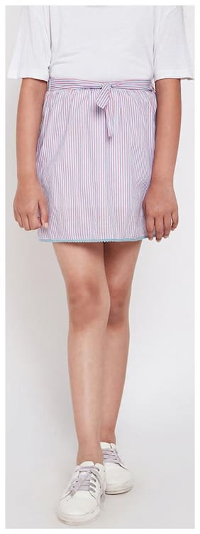 OXOLLOXO Girl Cotton Printed A- line skirt - Multi