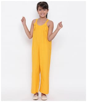 Oxolloxo Sunrise Circle Love Girls Jumpsuit (Yellow)