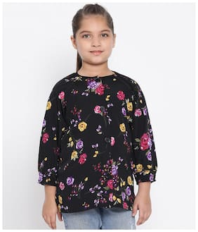 Oxolloxo Girl Polyester Floral Top - Multi