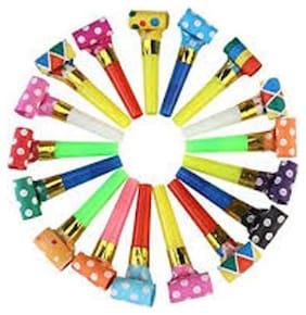 P S Retail Party Blowouts Whistles Kids Birthday Party Noisemaker -Multi color- (30pcs/set)