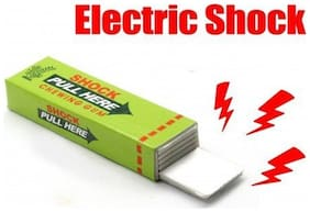 Pack of 1 Electric Shock Gum Prank Toy - Multi Color