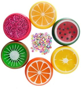 (Pack of 6 pc) Fruit Slim Putty In Fruit Shape Box