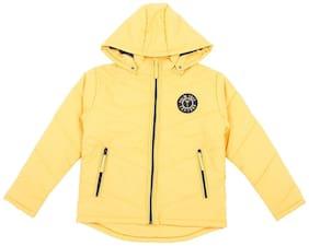 Gini & Jony Boy Polyester Solid Winter jacket - Yellow