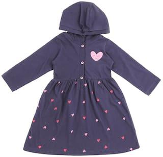 Pantaloons Baby Baby girl Cotton Printed Princess frock - Blue