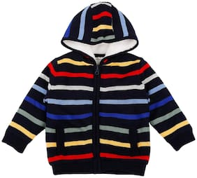 Pantaloons Baby Baby boy Acrylic Striped Sweater - Multi