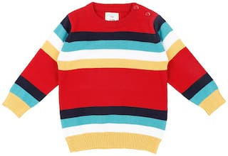 Pantaloons Baby Baby boy Cotton Striped Sweater - Multi
