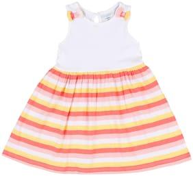 Pantaloons Baby Baby girl Cotton Striped Princess frock - Multi