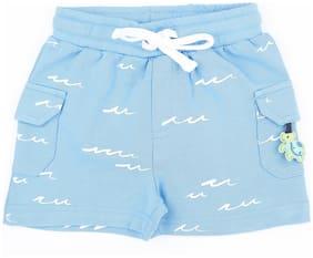 Pantaloons Baby Baby boy Cotton Printed Shorts - Blue