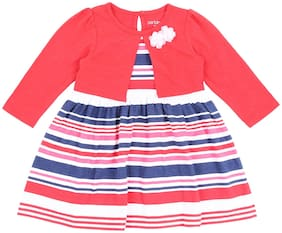 Pantaloons Baby Baby girl Cotton Striped Princess frock - Multi