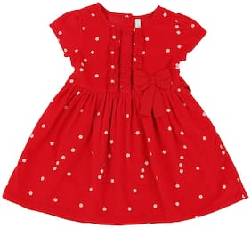 Pantaloons Baby Baby girl Cotton Printed Princess frock - Maroon
