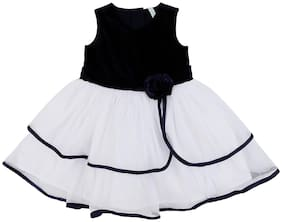 Pantaloons Baby Baby girl Poly cotton Solid Princess frock - White