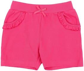 Pantaloons Baby Baby girl Cotton Solid Shorts - Purple