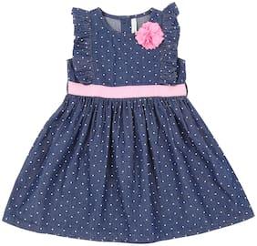 Pantaloons Baby Baby girl Cotton Polka dots Princess frock - Blue
