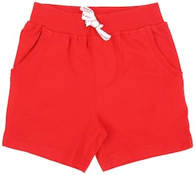 Pantaloons Baby Baby boy Cotton Solid Shorts - Red