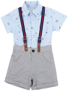 Pantaloons Baby Boys Dungaree Blue