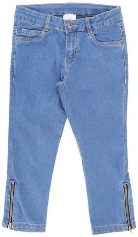 Pantaloons Junior Basic Straight fit Jeans for Girls - Cream