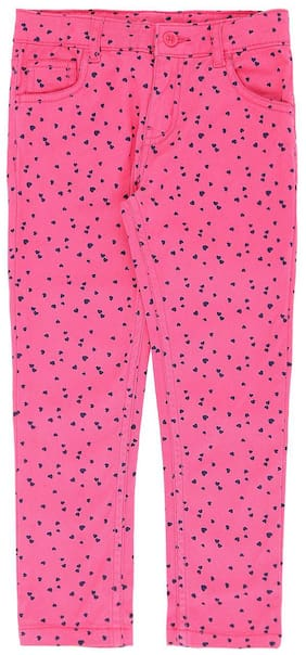 Pantaloons Junior Girl Cotton Trousers - Pink