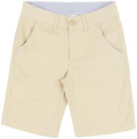 Pantaloons Junior Boy Solid Shorts & 3/4ths - Beige